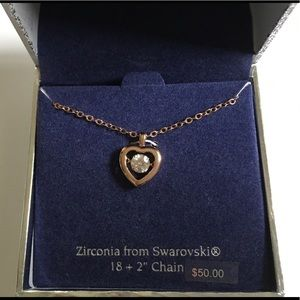 Jewelry - Brighton QUINTET Swarovski Heart Pendant Necklace